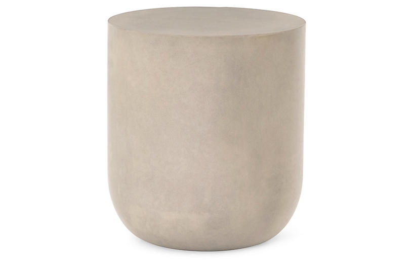 Jose Round Side Table, Gray