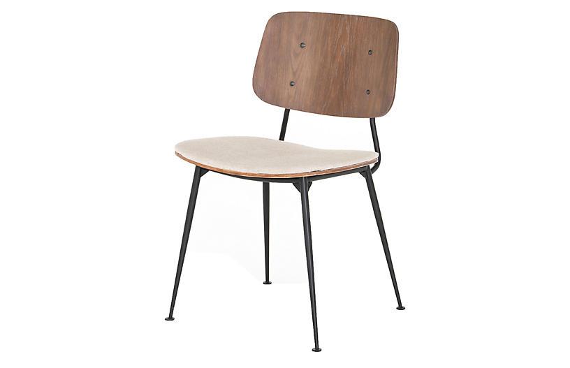 Rylan Dining Chair, Acorn/ Linen