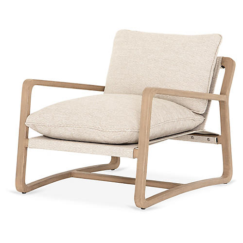Lane Outdoor Chair, Washed Brown