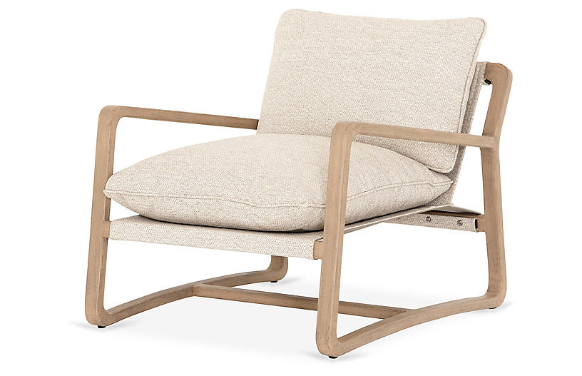 Weston Outdoor Chair, Washed Brown
