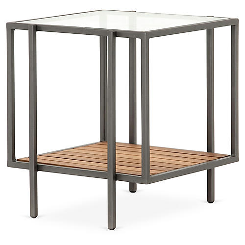 Finn Outdoor Side Table, Gunmetal