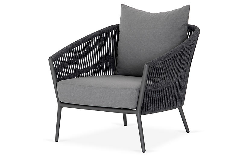 Knox Outdoor Chair, Gray