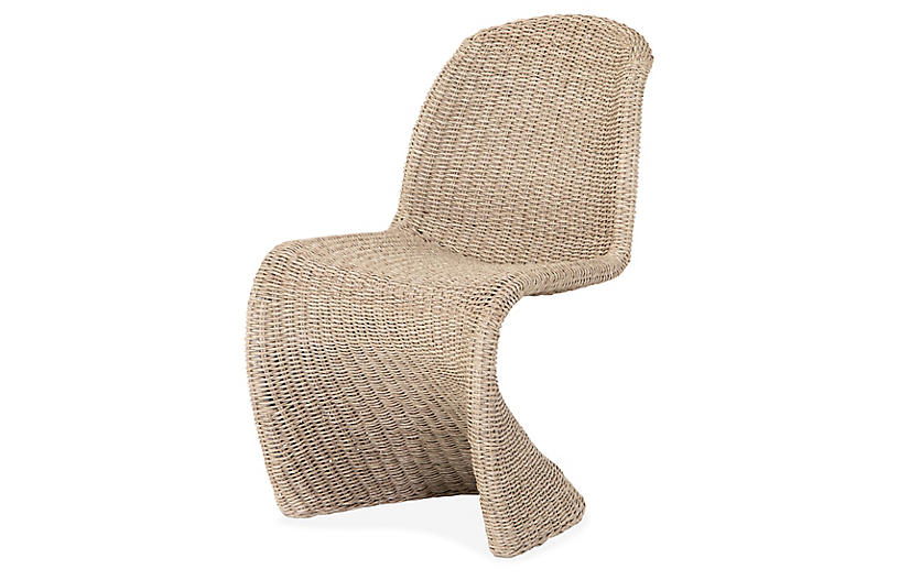 Paulina Outdoor Dining Chair, Natural