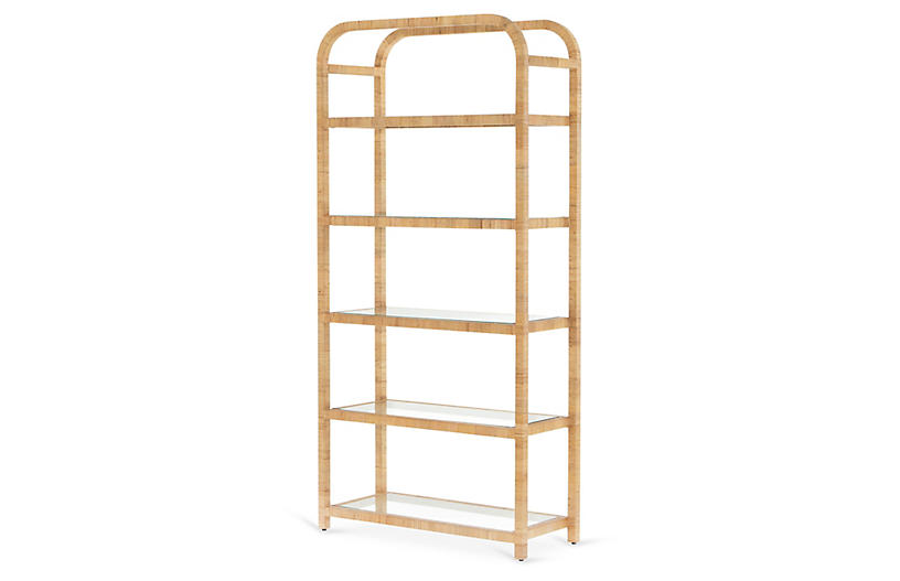 Lina Bookshelf, Honey Rattan