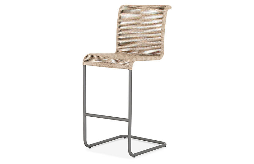 Lucca Outdoor Bar Stool, Vintage White