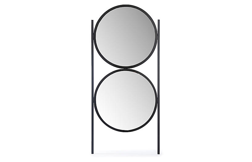 Oscar Floor Mirror, Gunmetal
