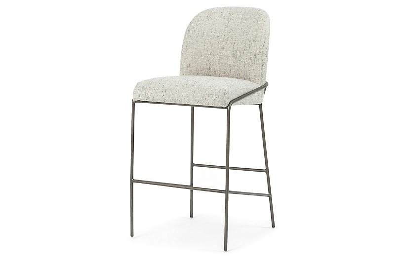 Nikoli Bar Stool, Lyon Pewter