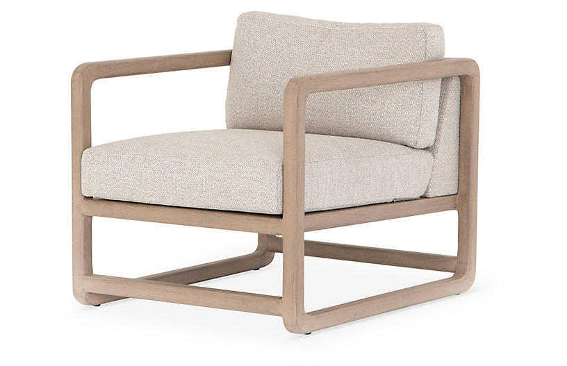 Theo Outdoor Chair, Faye Sand/Washed Brown