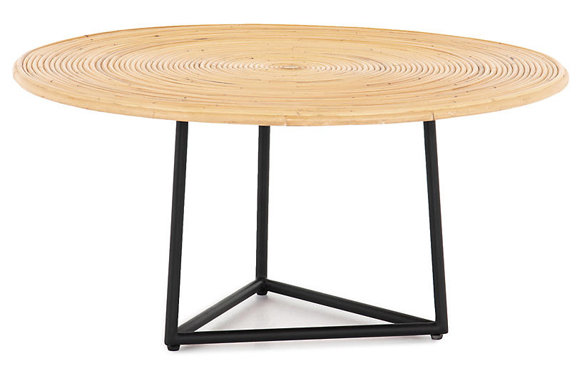 Fields Rattan Coffee Table, Natural/Black