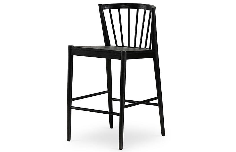 Malik Counter Stool, Matte Black