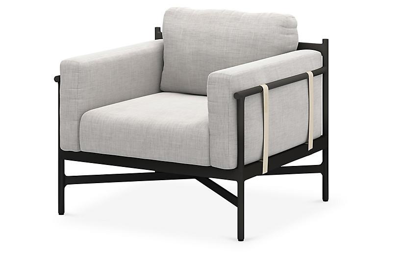 Elle Outdoor Chair, Bronze/Stone Gray