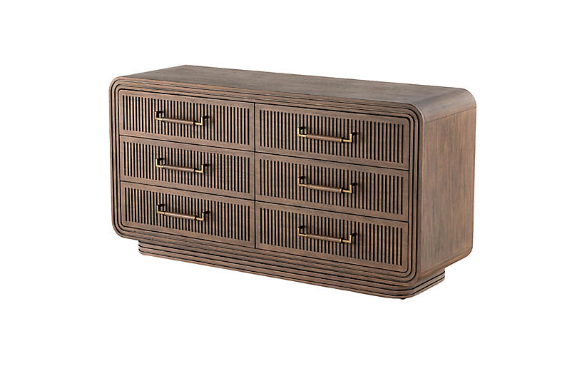 Tracey Boyd 6-Drawer Dresser, Warm Espresso
