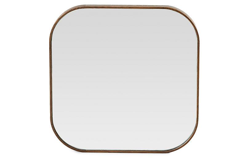 Odin Square Mirror, Spiced Oak