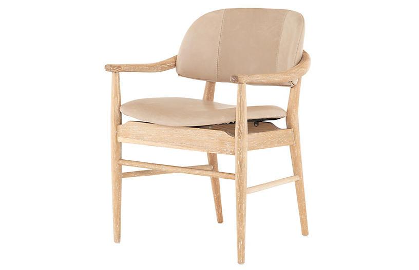 Hadley Dining Chair, Burlap Leather