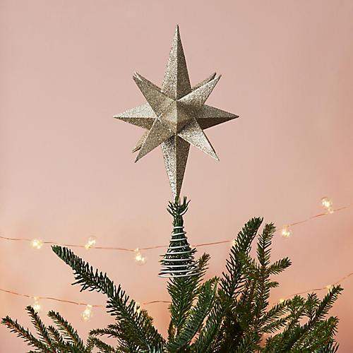 Moravian Star Tree Topper, Silver