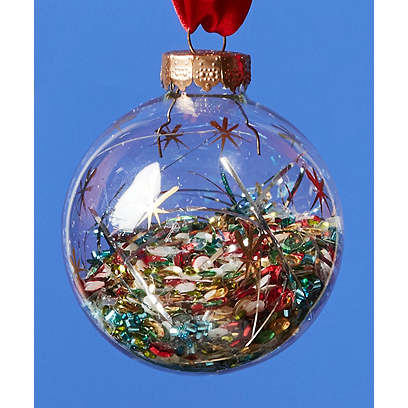 Starry Sequins Globe Ornament, Gold/Multi