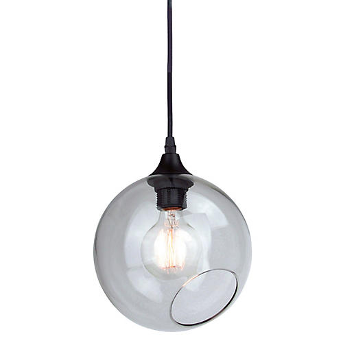 Sherrill Pendant, Clear/Black