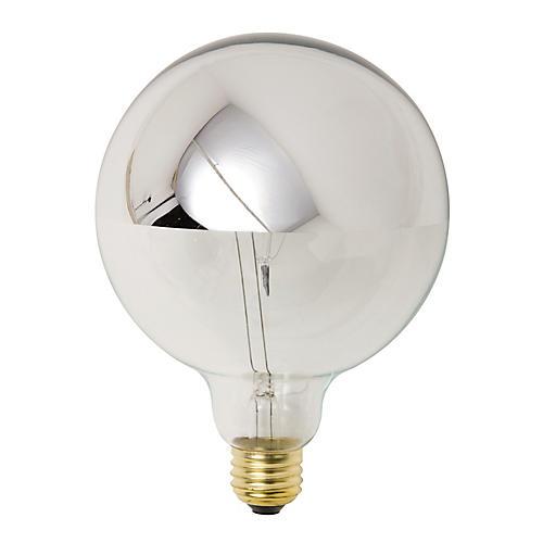 Twin Light Bulb, Chrome/Clear