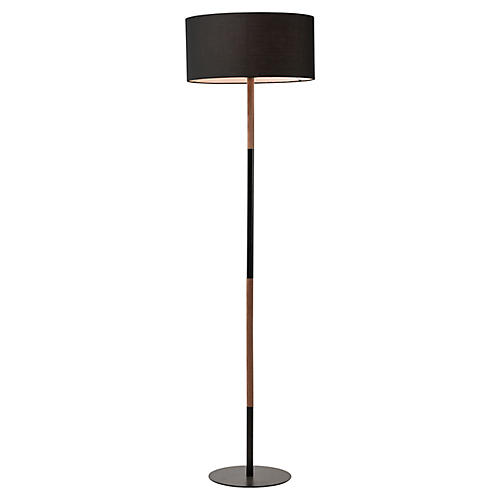 Bowen Floor Lamp, Coffee/Black