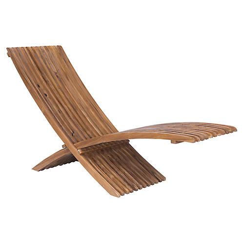 Schweitzer Teak Lounge Chair, Natural