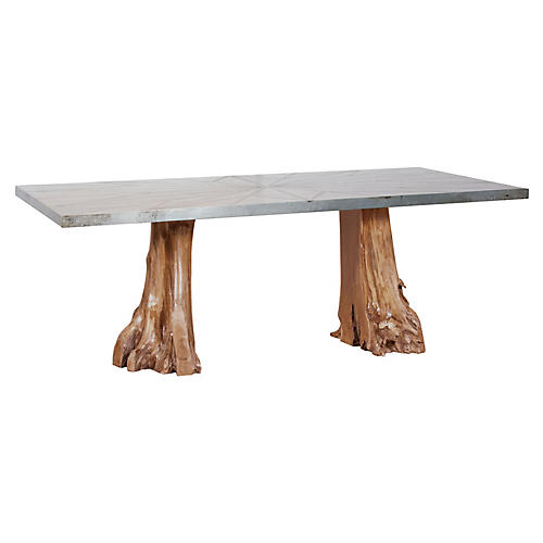 Alta Teak Dining Table, Natural