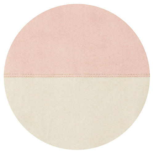 Spezzato Round Place Mat, Blush/Natural