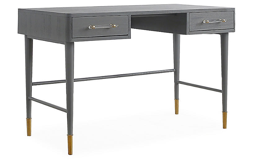 Montijo Desk, Antiqued Gray