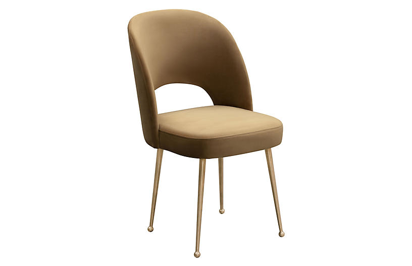 Lennon Side Chair, Cognac