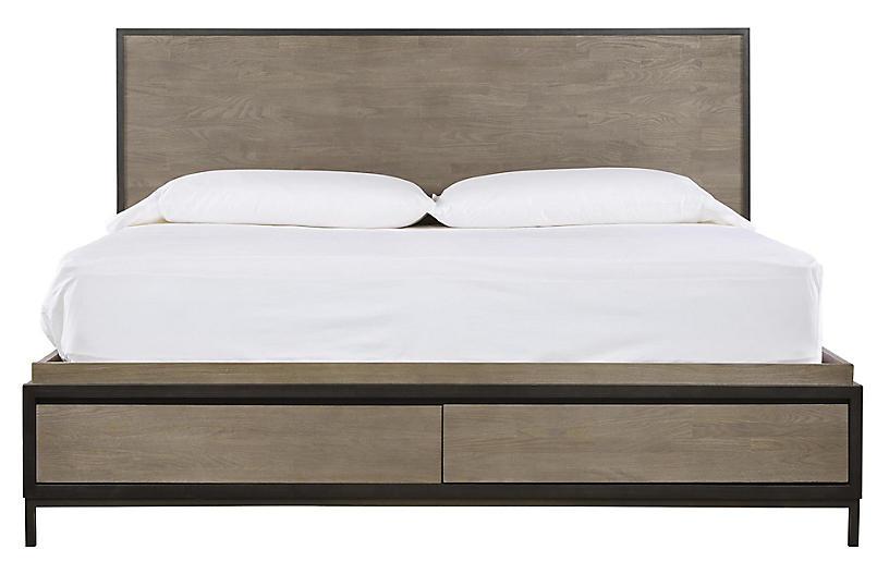 Spencer Storage Bed, Gunmetal