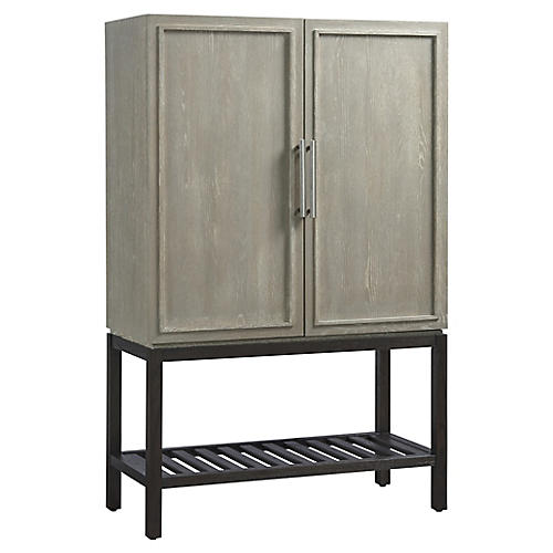 Zephyr Bar Cabinet, Graywash