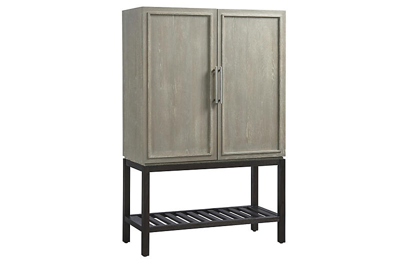 Zephyr Bar Cabinet, Graywash