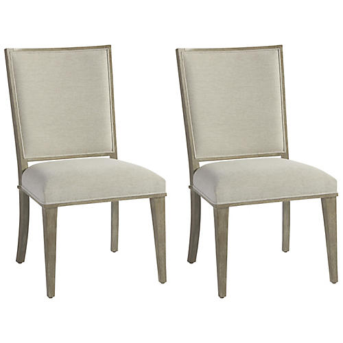 S/2 Zephyr Side Chairs, Oatmeal