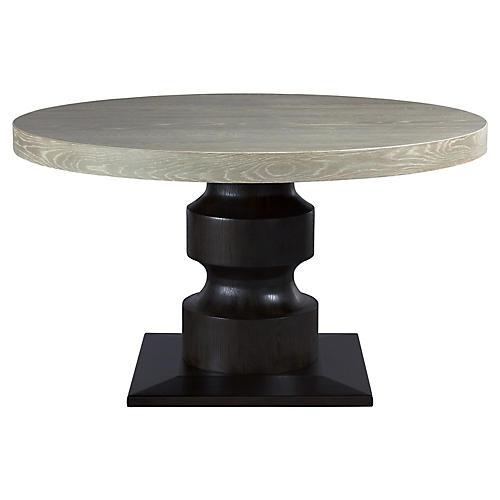 Affinity Dining Table, Graywash/Espresso