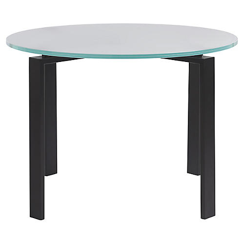 Marshall Round Dining Table, Frost