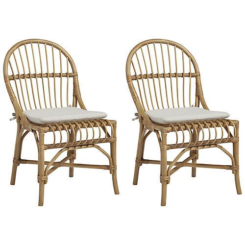 S/2 Newburyport Side Chairs, Natural
