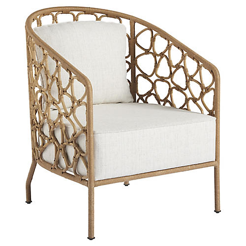 Charleston Accent Chair, Natural