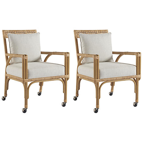 S/2 Sarasota Side Chairs, Natural