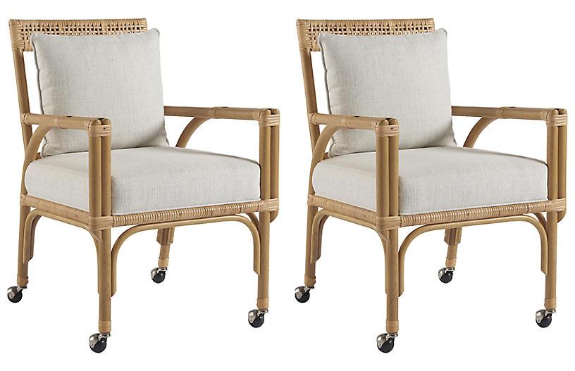 S/2 Sarasota Side Chairs, Natural