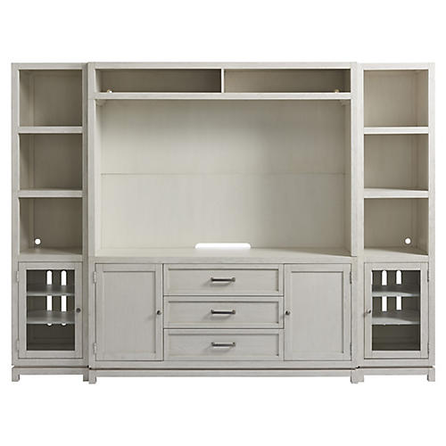Caswell Media Cabinet, White