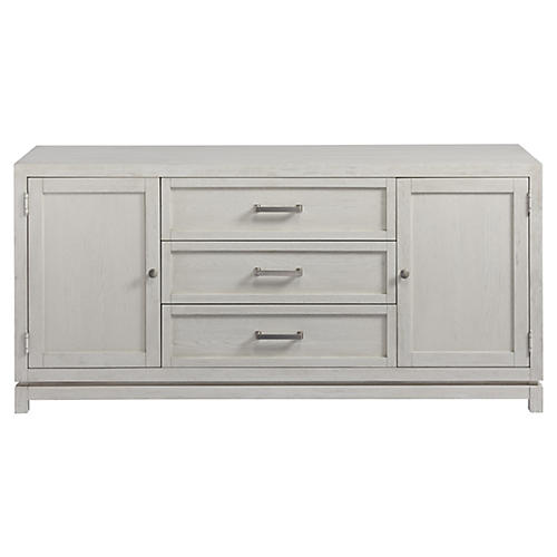 Caswell 3-Drawer Media Cabinet, White