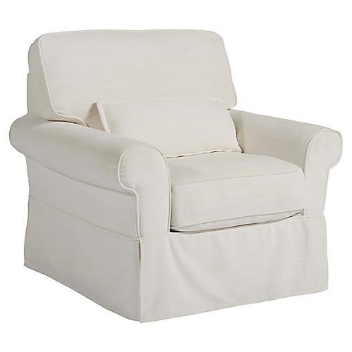 San Mateo Accent Chair, Natural Crypton