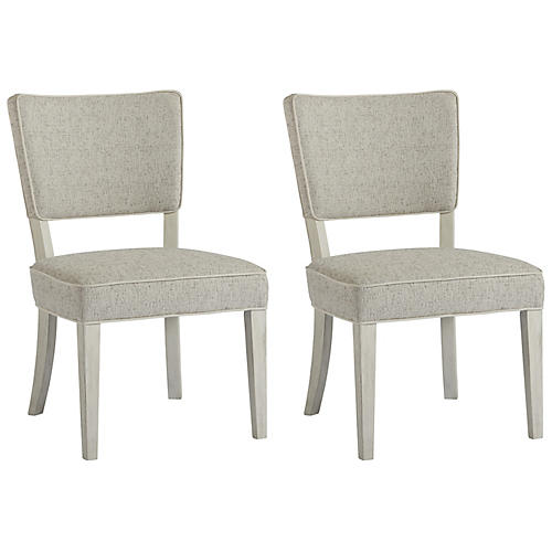 S/2 Monterey Side Chairs, White