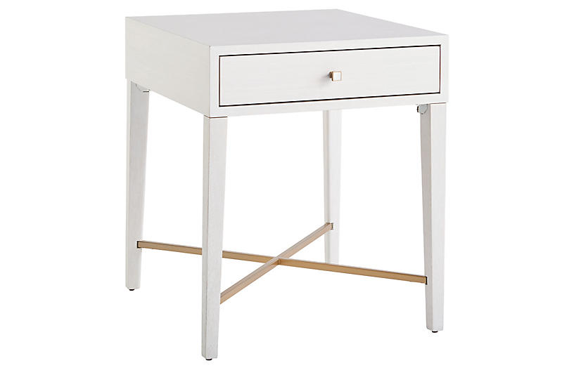Love Joy End Table, Alabaster