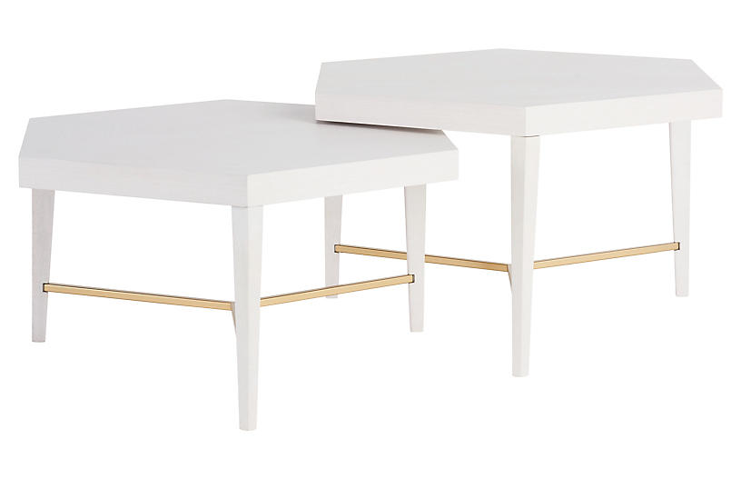 Sydney Bunching Cocktail Tables, Alabaster