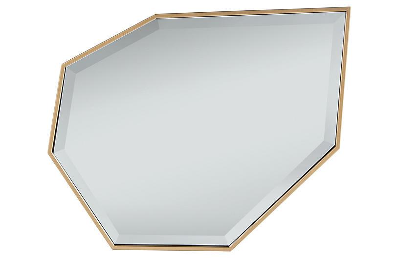 Kawaii Accent Mirror, Soft Gold