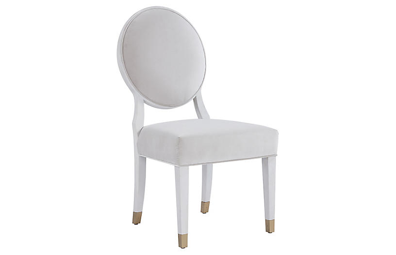 Love Joy Side Chair, White Lacquer