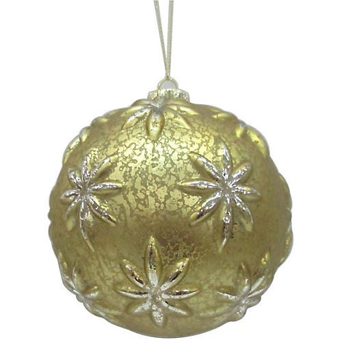 Blossom Ornament, Gold