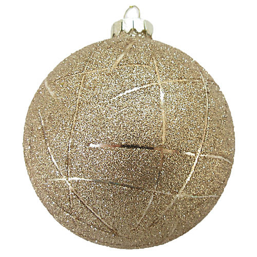 Crackleball Crackle Ball Ornament, Gold