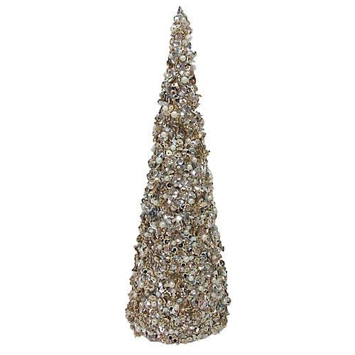 Tree Cone, Gold/Silver