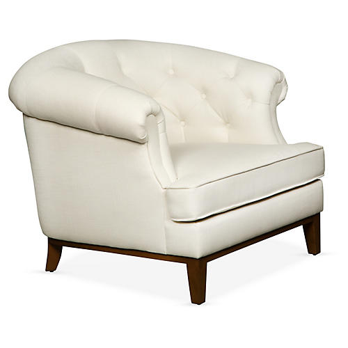Wilshire Accent Chair, Ivory